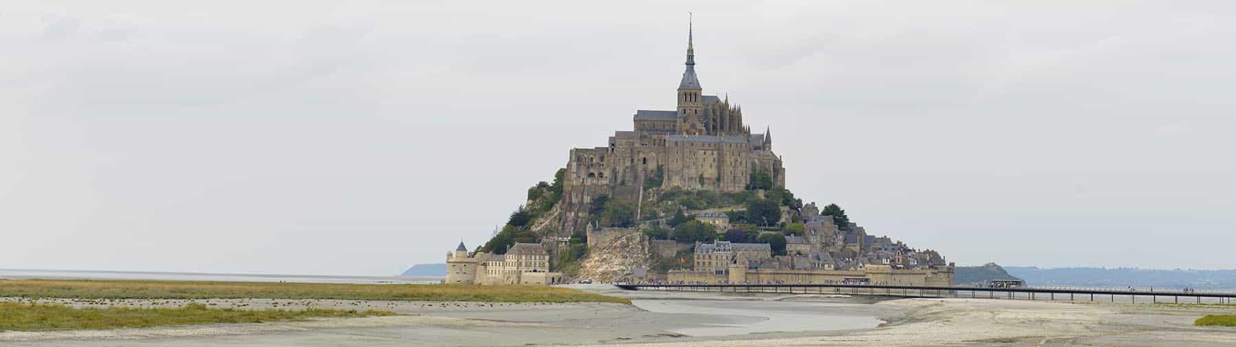 Reisemålet Mont Sant-Michel i Frankrike