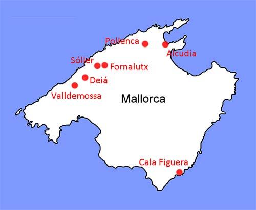 Sju flotte byer og landsbyer på Mallorca